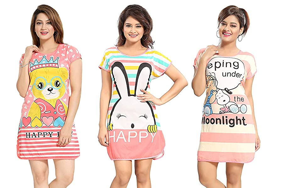 Cotton Printed Gown Nighty