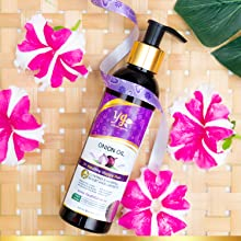 This Onion Seed Hair Oil is a non sticky, non greasy and quick absorb hair oil.