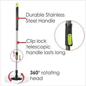 cleaning mop, bucket mop ,easywring spin mop, microfiber refill, stainless steel rod, mop handle