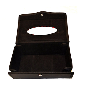 Portable Leather Rectangular Tissue Cover Box