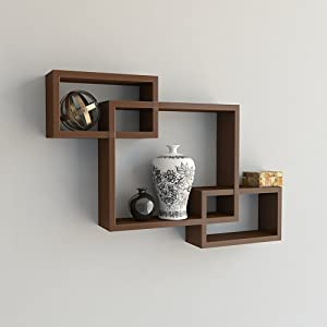 Wall Decoration Intersecting Floating Shelf