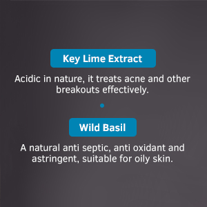 Wild Basil, treats acne, for oily skin, ustraa face wash for men