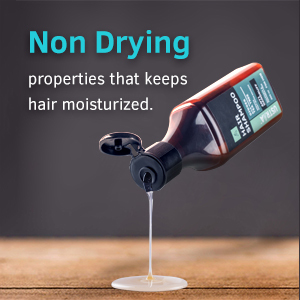 no dry hair, moisturised hair
