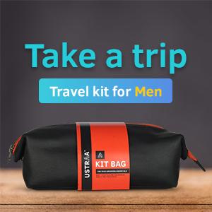 free grooming kit, travel pouch, travel kit, shaving kit