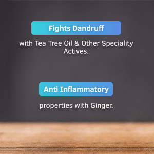 ginger, anti dandruff, tea tree oil