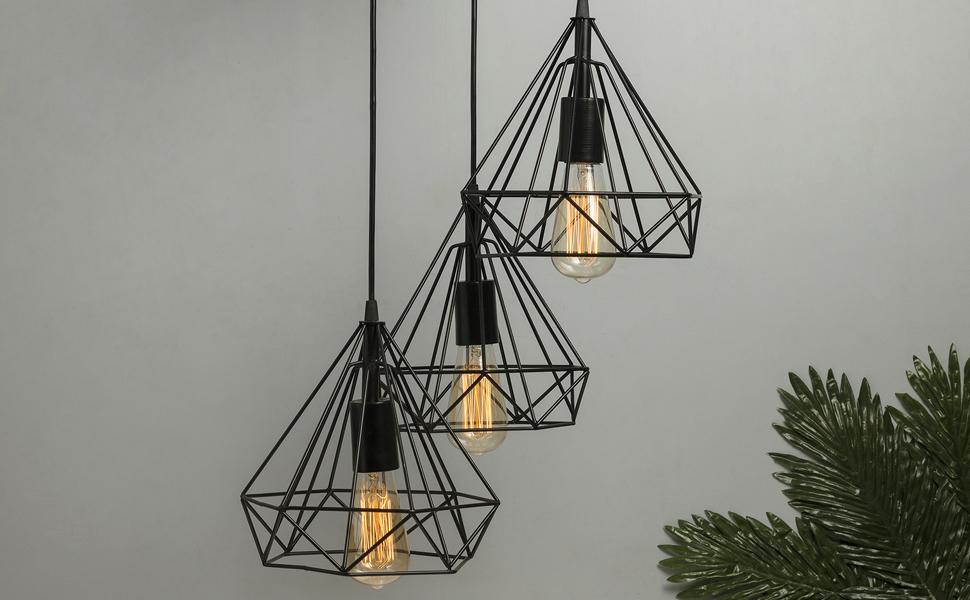 hanging polygon cluster lamp