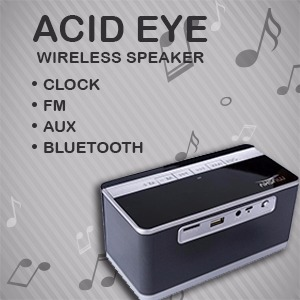 Bluetooth Speaker with Alarm Clock FM AUX