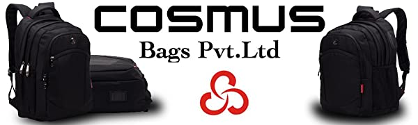 Cosmus Madison Black 33L waterproof Bag With laptop compartment