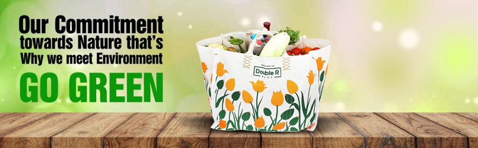 #DoubleR #LargeHeavyDuty #WaterproofShoppingBags #KitchenEssentials #GroceryBag #VegetableBag #Jhola