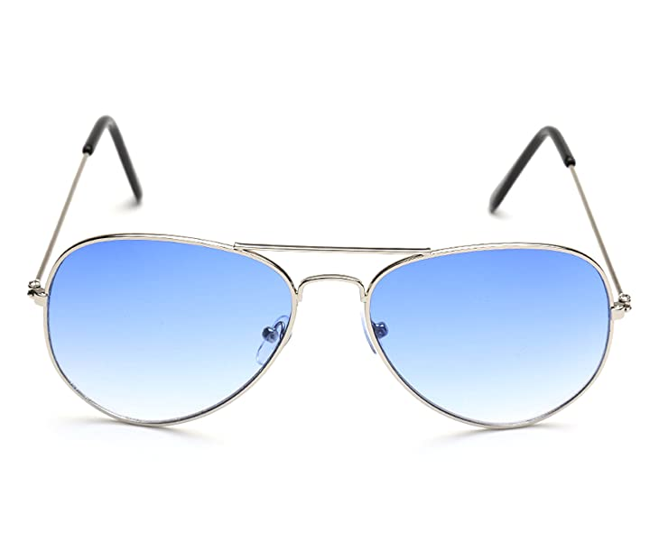 04932328e7 Gansta UV Protected Silver Blue Aviator Sunglasses for Men Women (Gn ...