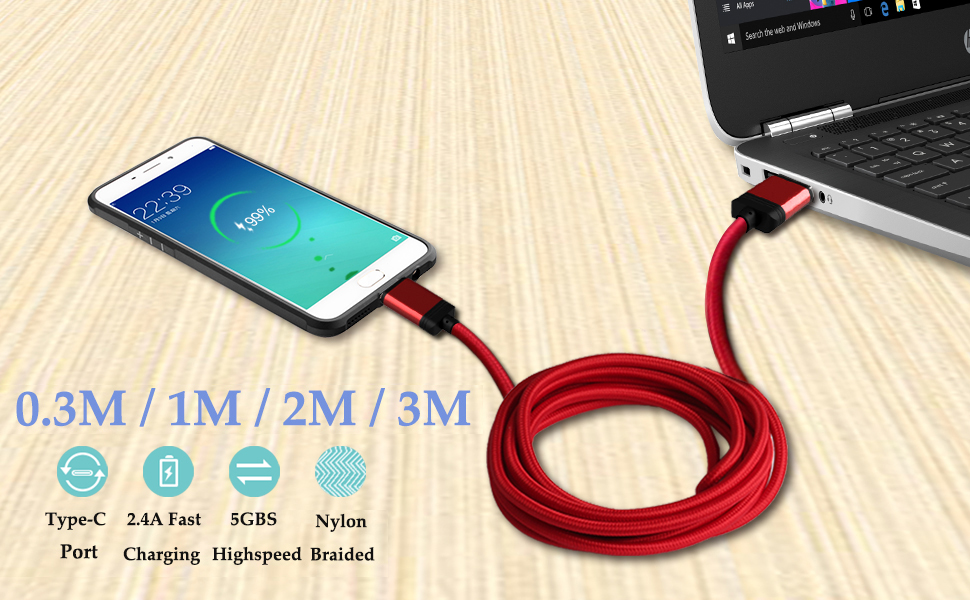USB Type C Charger Cable