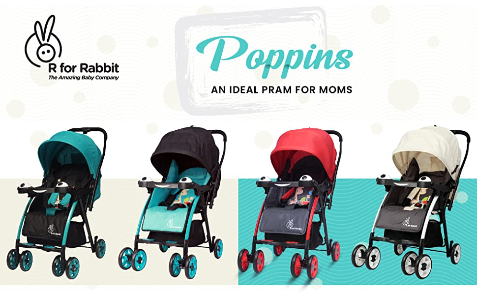 "ca34b74f1eb Adjustable leg rest  Poppins by R for Rabbit has an ergonomically designed  leg rest with fun ""paw prints"" that provides a comfortable seating position."