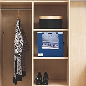 shirt stacker organizer,shirt stacker navy blue,shirt stacker organiser,wardrobe storage,