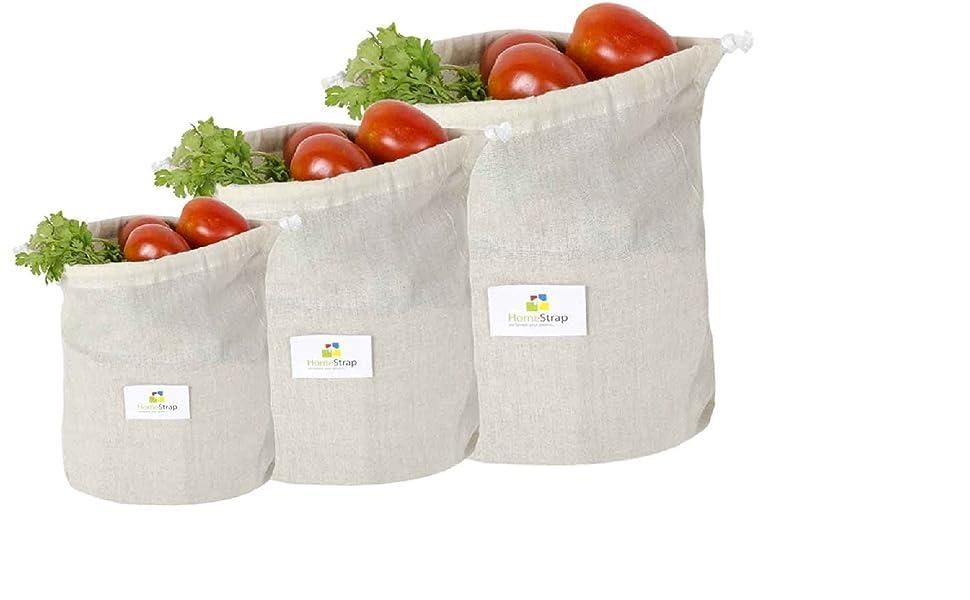 vegetable Pouch,cotton vegetable bag,fridge bag,homestrap,vegetable storage bag for fridge