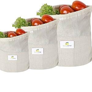 muslin fridge bag, cotton vegetablepouch,muslin vegetable pouch,fridge bag cotton,vegetable bag