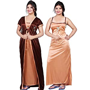 night dress, women's nigh dress, satin night dress
