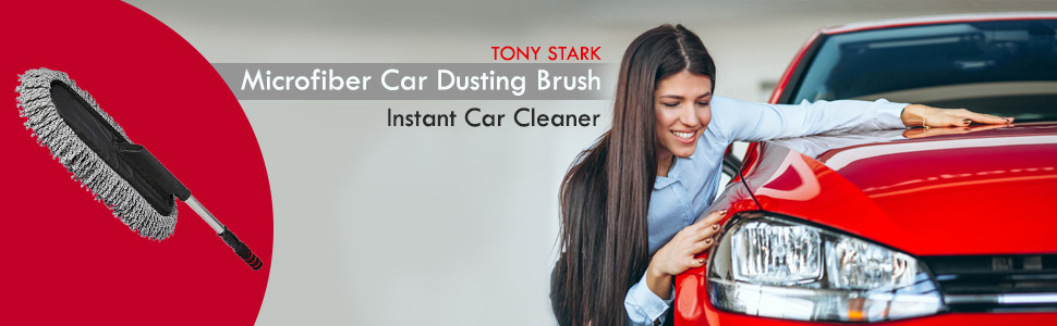 TONY STARK Microfiber Car Dusting Rectangle Mob Polishing Brush