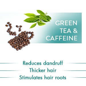 GreenTea&CaffeineReducesdandruffThickerhairStimulushairroots