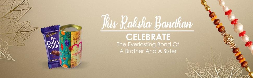 Maalpani Rakhis -Twin Rakhi Bracelate Rakhi n Traditional Rakhi Set - Chocolate (Multicolour) Small