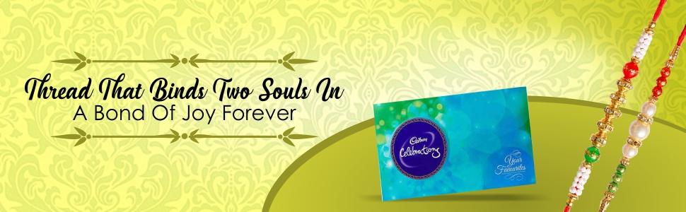 Maalpani Rakhi Chocolate Hamper Combo for Brother Set Premium Diamond Cadbury Celebration Pack