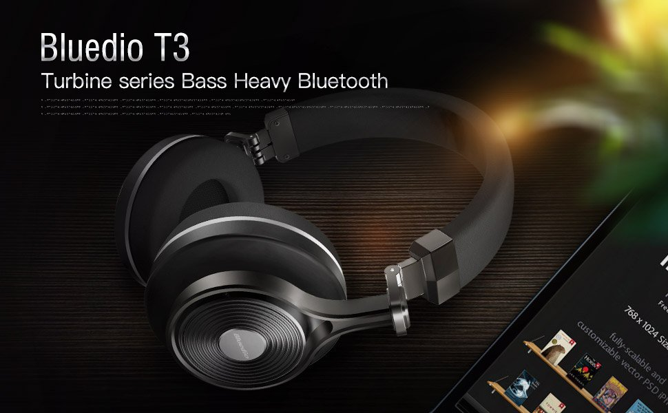 da159b8f9a3 Bluedio T3 Plus (Turbine 3rd) Wireless Bluetooth 4.1 Stereo ...