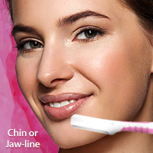 LetsShave Soft Touch face razor to remove hair from chin or jaw line