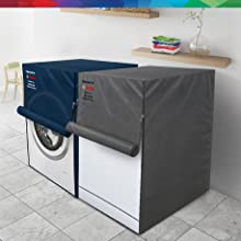 Bosch original protective dust cover for washing machine and dishwashers grey blue