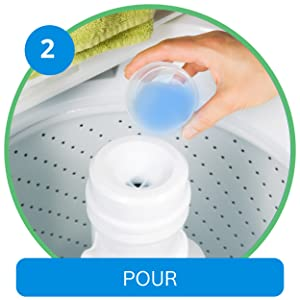 how to use steps Bosch top load washing machine detergent for tough stains, clean clothes