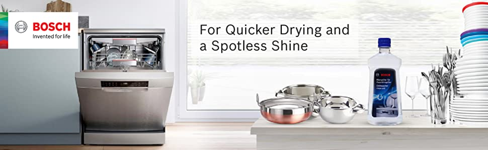 dishwasher rinse aid for spotless and shining dishes