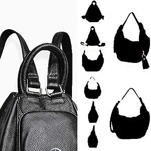 black multi use backpack bag black convertible backpack bag