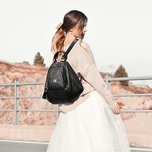 hobo bag fashionable handbag collage student backpack tuition backpack smart charging backpack
