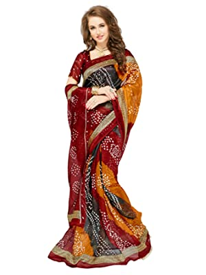 2f12a0222d3fc Glory Sarees Art Silk Saree with Blouse Piece (Pack of 2 ...
