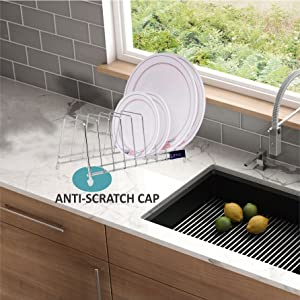 Use near sink area; anti scratch bottom cap