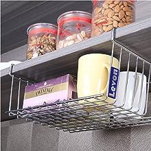 Flexible;Under Shelf Basket;Basket;Levon Homes;Accessories;Kitchen Essentials;Home Organisers