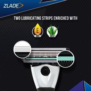 2 Lubricating Strips with Aloe Vitamin E for shaving sensitive skin no razor burn no cuts no nicks