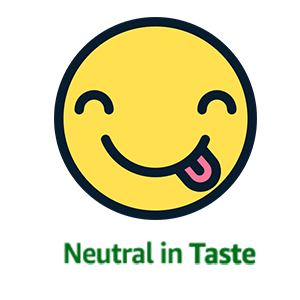 Neutral in taste