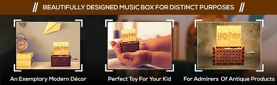 wooden box harry potter musical box