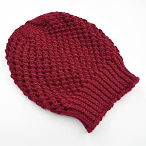 0c06071f3e0 Handmade Crochet Knit Woolen Beanie Cap Slouch Autumn Cold Season Unisex  Men Women