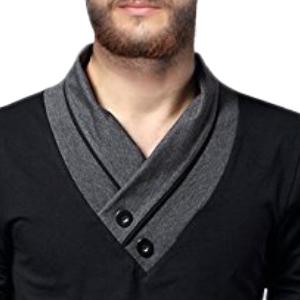 Uniquely designed V-neck