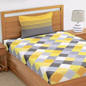 Single bedsheet pillow cover bed