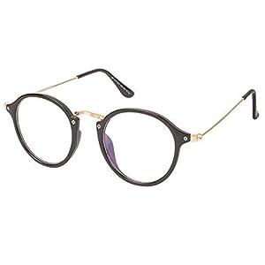 4bdd7038414a Arzonai Frame Round Shape Black-Transparent UV Protection Sunglasses ...