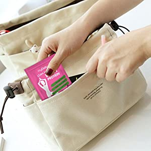 Protein packets, pouch easy to carry