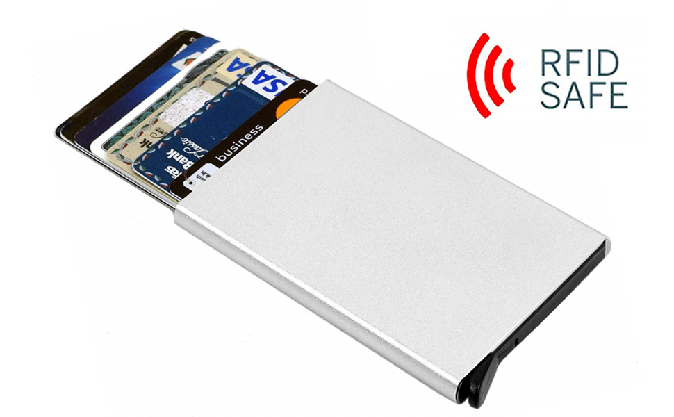 SNDIA RFID Credit Card Holder Pop Up Blocking Security Slim Wallet Case for  Men and Women (Pack of 1)
