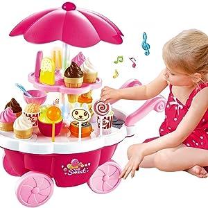 candy dessert cart