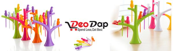 DeoDap Tree Shape Bird Fork Set
