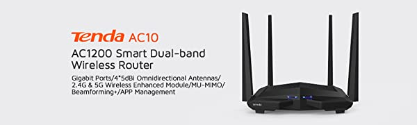 AC10 AC1200 Smart Dual-Band Wireless Router