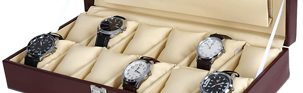 Watch box with sample watches