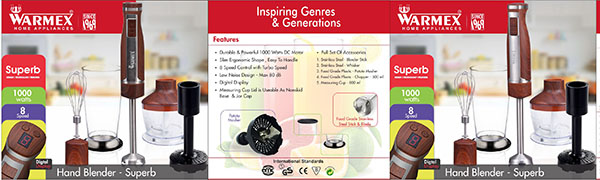 Superb Hand Blender, Hand Blender, Warmex Hand Blender, Warmex Superb, Superb, Superb Blender