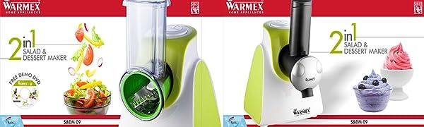 SDM, Salad & Dessert Maker, Warmex Salad Maker, Warmex Dessert Maker, Warmex Salad & Dessert Maker