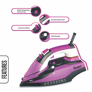 Electric Sassy Smart Iron, Electric Sassy Steam & Smart Iron, Warmex Electric Sassy